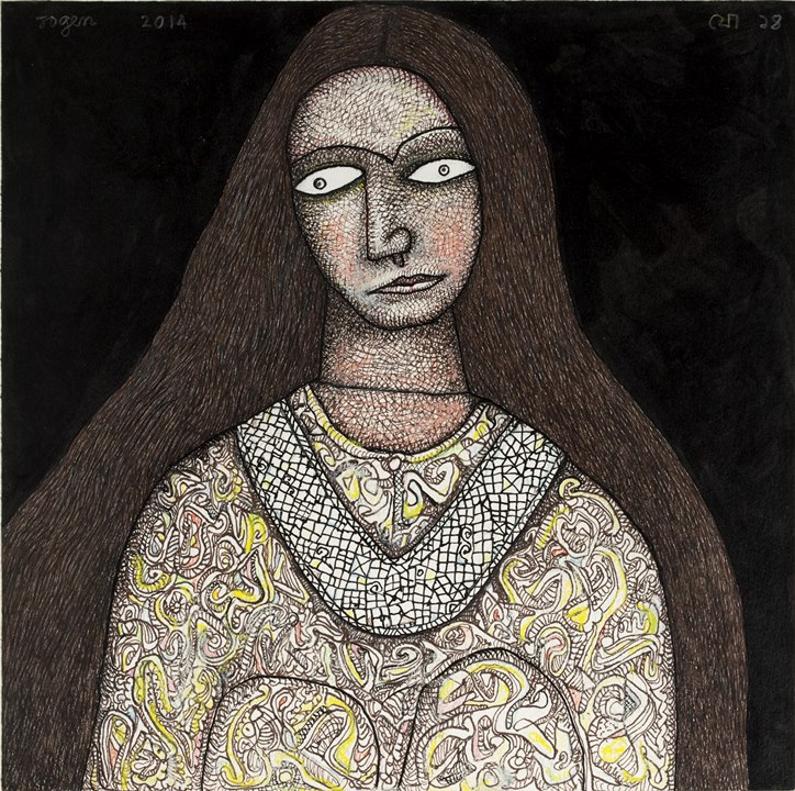 Woman with Silver Necklace